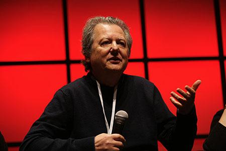"""Pierre Haski était aux Assises du journalisme pour la conférence """"Comment enseigner l'entrepreneuriat aux jeunes journalistes ?"""". (Obsweb)"""