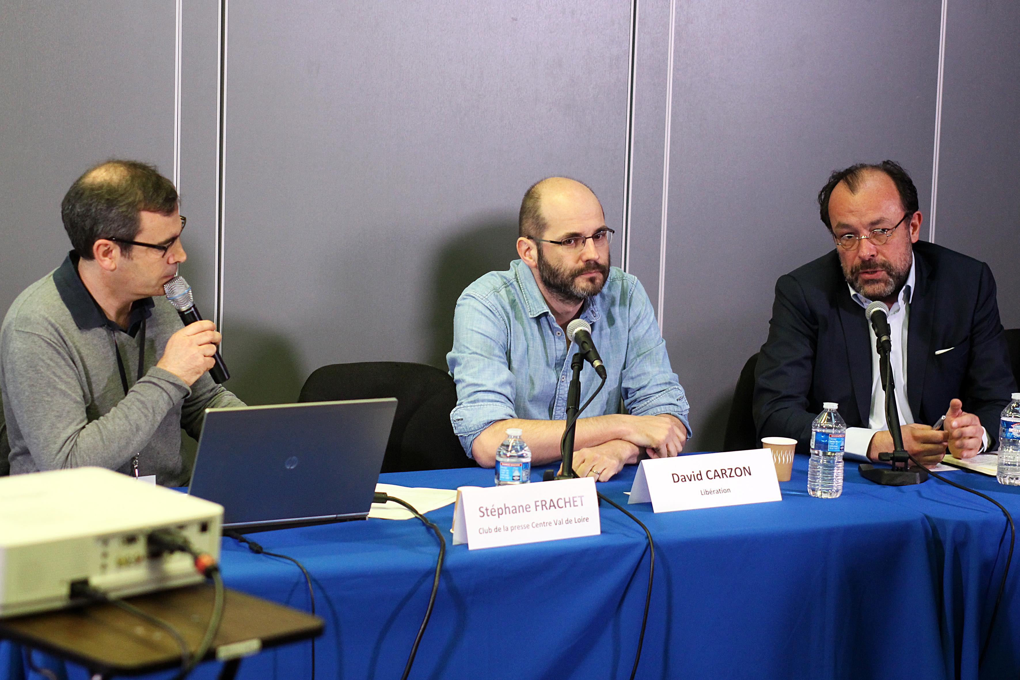 Stéphane Frachet, David Carzon et Vincent Peyrègne.