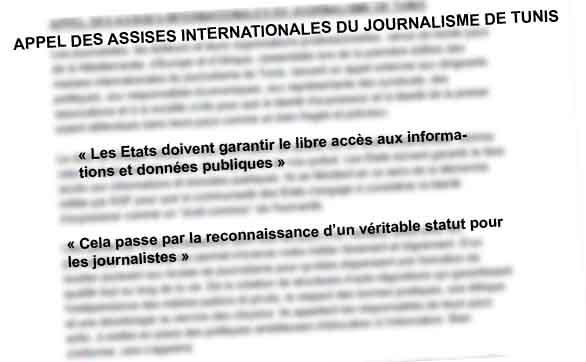 L'appel «solennel» en clôture des Assises : «Le droit de chaque citoyen à une information de qualité est un droit fondamental»