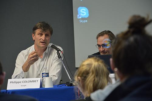 Philippe Colombet a tenté d'expliquer que malgré l'importance de Google News, les médias n'en sont pas dépendants. Crédit photo : Simon Bolle