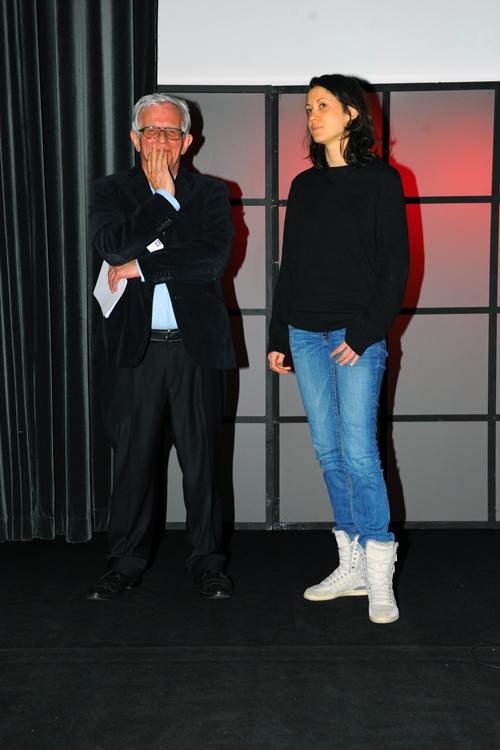Sonia Déchamps, rédactrice en chef de la ZEP, aux côtés de Marc Mentré. (Les Assises)